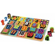 Melissa and Doug - Puzzle lemn in relief Numere de la 1 la 20