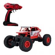 Teckey RC Coche De Vehículo De Carretera De Alta Velocidad 25km / h 1:18 De Escala 100M De Control Remoto 20mins Tiempos De Reproducción 4WD Fast Race Camión 2.4GHz Electric Buggy Hobby Car (rojo)