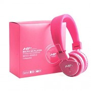 G4GADGET® High Performance Micro SD TF Card Headset Headphone USB Audio MP3 Music Player FM Radio (Pink) can also be use with Aux cable for Apple iPad4 iPhone 5,Ipod All Mp3 Mp4 Players Sony Creative Samsung, All Laptop Pc And All Devices With A Standard