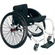 sedia a rotelle / carrozzina sagitta superleggera, imbottita e ad ing