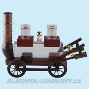 Dřevěný vozík s cisternou + štamprle