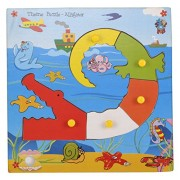 Skillofun Wooden Theme Puzzle Standard Alligator Knobs, Multi Color
