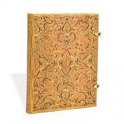 PAPERBLANKS Carnet Ultra PAPERBLANKS série Les Manuscrits Estampés modèle Marqueterie d'Or