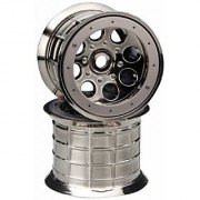 Axial AX8017 Oversize Beadlock 8-Hole Wheel (Set of 2) 17mm Black Chrome