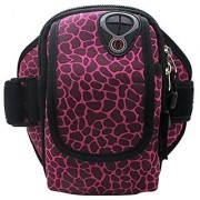 co2CREA Outdoor Sports Running Armband fits upto 4.7 inch Device Color: (Sika Deer Pattern-Rose)