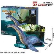 Cubic Fun Age of Dinos 3D Puzzle - Plesiosaur P671H-38pcs