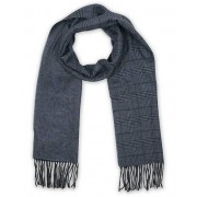 Dunhill Double Face Check Herringbone Scarf Navy