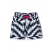 ランズエンド LANDS' END ガールズ・プルオン・ショーツ/ストライプ/ショートパンツ【キッズ・子供服・女の子】(ミッドナイトネイビースモールストライプ)