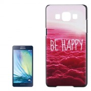 Be Happy Pattern PU Protective Case for Samsung Galaxy A5