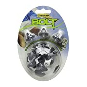 Champ Bolt Footbal Studs - Black/White