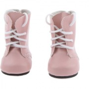 Magideal Pink Lace Up Pu Martin Boots Shoes For 18Inch American Girls Dolls