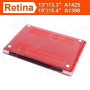 """ENKAY Crystal Hard Protective Case for """"15-inch MacBook Pro with Retina Display"""" - Translucent Red"""