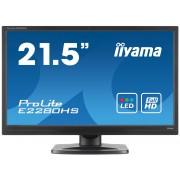 iiyama ProLite E2280HS-B1 21,5' LED LCD 1920x1080 250cd/m² 12M:1 ACR speakers HDMI DVI VGA 5ms TCO6