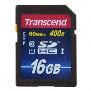 Transcend SDHC Class 10 UHS-I (Ultimate) SD Card - Blue (16GB)