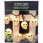 Happy Halloween Skull Indoor/outdoor LED Light - 2 Sets of 10 Skulls each