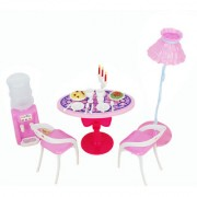 Barbie Size Dollhouse Dining Room Furniture Play Set
