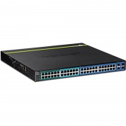 TRENDnet TPE-4840WS - 48Port GB Web Smart PoE+ Switch - 4 Shared SFP S