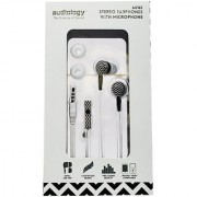 AUDIOLOGY AU-165-CHBL In-Ear Stereo Earphones with Microphone for MP3 Players iPods and iPhones (Black)