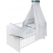 Schardt Komplettbett Classic Line 70x140 cm weiß inkl. textiler Ausstattung Big Stars mint (04-498-02-02-1-724)