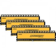 Memorie Crucial Ballistix Tactical 16GB (4x4GB) DDR3, 1600MHz, 1.5V, PC3-12800, CL8, Quad Channel Kit, BLT4CP4G3D1608DT1TX0