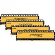 Memorie Crucial Ballistix Tactical 16GB (4x4GB) DDR3, 1600MHz, 1.5V, PC3-12800, CL8, Quad Channel Kit, BLT4CP4G3D1608DT1TX0