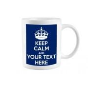GreatDeals4you Keep Calm Tasse avec texte personnalisé