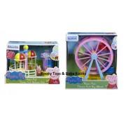 Peppa Pig BUNDLE Theme Park Gran Ferris Wheel & Theme Park Balloon Ride 2 artículos (Se distribuye desde el Reino Unido)