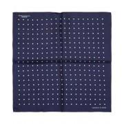 Turnbull & Asser Turnbull & Asser Silk Dot Handkerchief Navy