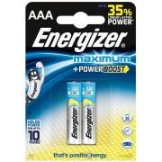 Baterii alcaline AAA Energizer 7638900297508, 1.5V, 2 buc
