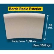 Radio borde piscina Crema Granallado 35 cm exterior
