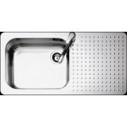 Chiuveta BARAZZA Select 1FS10060/1S 100x50 cm cu 1 cuva si suprafata suport pe partea stanga, Fabricatie Italia, Adancime cuva 200mm
