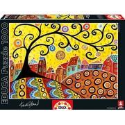 Educa - 16296 - Puzzle Classique - Blooming Village - Karla Gerard