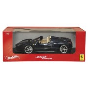 2012 2013 Ferrari Italia 458 Spider Dark Blue Metallic 1/18 By Hotwheels X5529