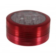 grinder poussoir 2 parties 50mm rouge