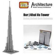 Burj Khalifa Tower Dubai Loz Diamond Blocks Architecture Nano Mini Bricks Figure