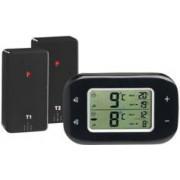 Rosenstein & Söhne Thermomètre digital sans fil pour réfrigérateur et congélateur avec 2 capteurs