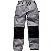 Dickies Grafter Duo Tone Trousers (WD4930) WD4930?? GREY/BLACK 36S (30'')