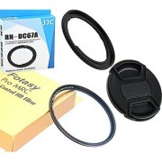 Fotasy Accessory Kit: 67mm Filter Adapter replaces FA-DC67A 67mm Pro1D MRC Nano HD UV Filter and Lens Cap for CANON PowerShot SX530 HS SX520 HS SX60 HS SX50 HS SX40 HS SX30 IS SX20 IS
