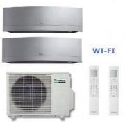 Daikin Climatizzatore Dual Emura 2mxs50h + 2 X Ftxg25ls-W 9+9 Wi-Fi