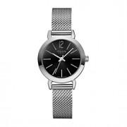 Julius mulheres da forma do relógio banda de aço inoxidável ja-732 da série de vestuário casual relógio de pulso de prata