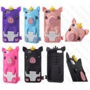 Аpple iPhone 7 (силиконов калъф) 'King Piggy style'