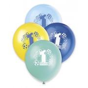 . Enico Industrie 23.955 12 8 Conte Blu Primo compleanno Balloons stampato 1 lato - Confezione 144 St-ck
