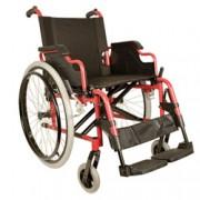 sedia a rotelle / carrozzina classica adulto - in alluminio