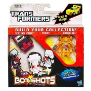 TRANSFORMERS BOT SHOTS Battle Game (Series 1 BUMBLEBEE, SENTINEL PRIME, PROWL)