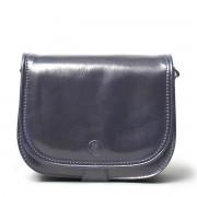 Damen Leder Schultertasche in Dunkelblau - Aktentasche, Umhängetasche, Businesstasche, Laptoptasche