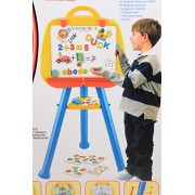 Scrafts 3 in 1 learning, reading, writing first classroom educational creative easel set for children (3 and above) with magnetic uppercase/lowercase lettres/numbers/symbols/storage trays/dry-erase marker and eraser. LWH(cms)= 54x9.5x46.