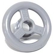 Lego Parts: Vehicle Steering Wheel Small 2 Studs Diameter (LBGray)