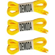 DE MODA Flat (Pack of 3-Yellow) Shoe Lace(Yellow Set of 3)