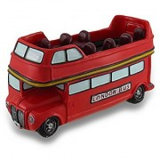 British Style Red Double Decker Bus Coin Bank Car Piggy Bank