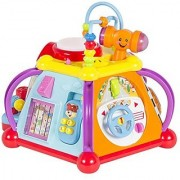 Best Choice Products Musical Activity Cube Toy Game Play Center W/ Lights Sounds & 15 Functions